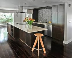 about dark wood floors in kitchen