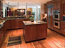 matching wood floors in kitchen