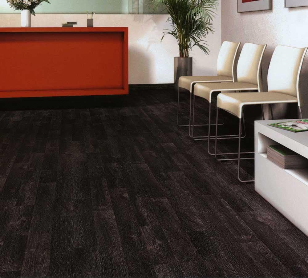 Black Hardwood Flooring Decor For